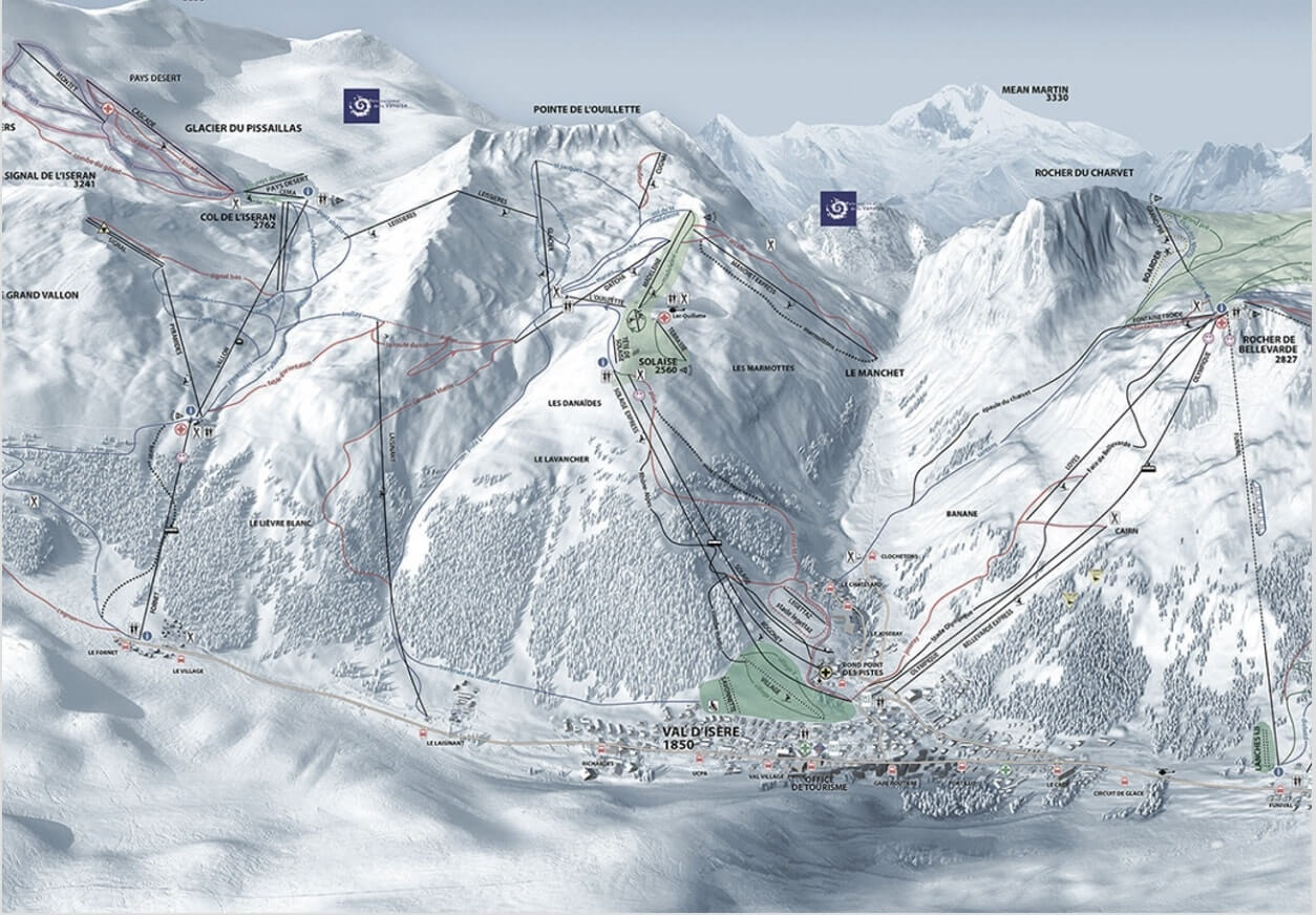 Piste Map Val d'Isere